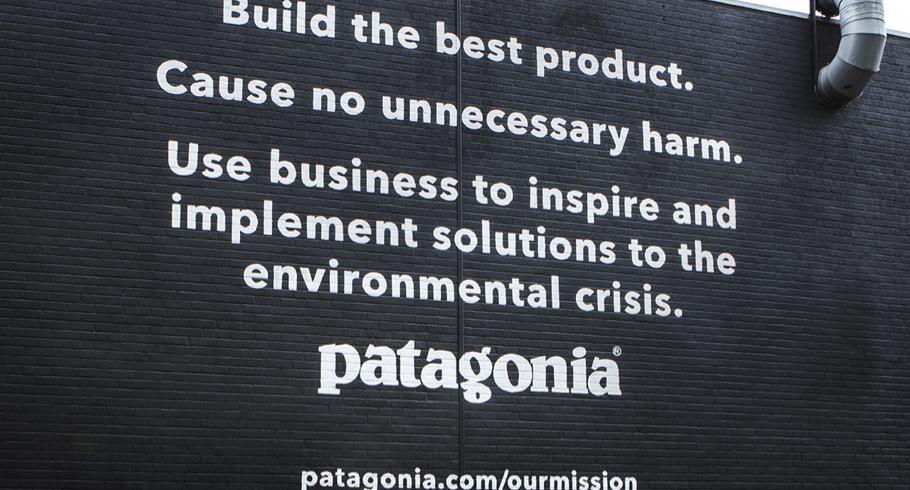 Patagonia branding, branding specialist, branding agency, london, purpose driven, ethical marketing